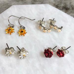 💸$5 Add On💸 Flower Earring Set